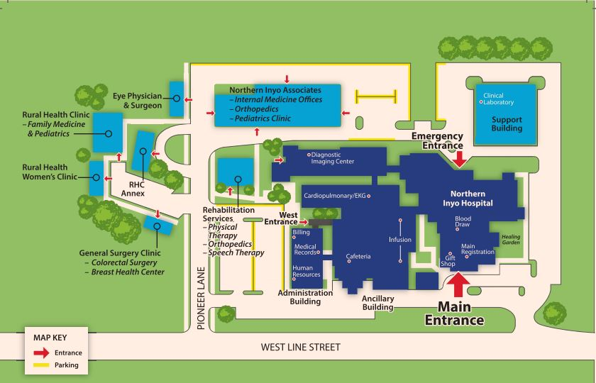 Campus map for NIHD